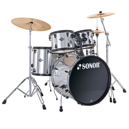 Sonor Smart 드럼세트Stage2 (22,10,12,F14) Brushed Chrome(17200318)