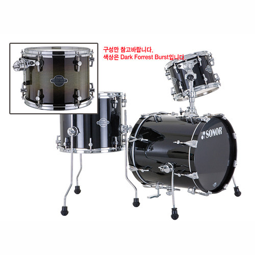 Sonor Select 드럼세트 Jungle(BD16,10,F14) Dark Forest Burst (17220623)